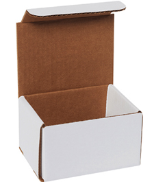 5x4x3 White Die Cut Mailer Boxes