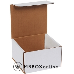 5x5x3 White Die Cut Mailer Boxes