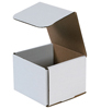 5x5x4 White Die Cut Mailer Boxes