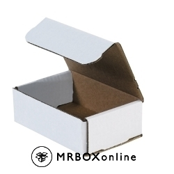 6x4x2 White Die Cut Mailer Boxes