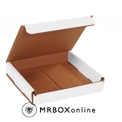 6x6x1 White Die Cut Mailer Boxes