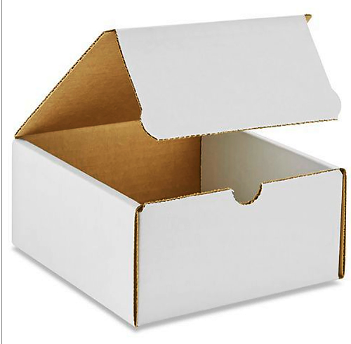8x5x4 White Die Cut Mailer Boxes