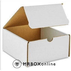 8x5x5 White Die Cut Mailer Boxes