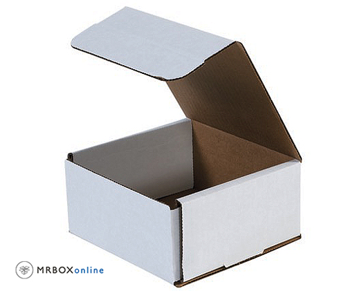 6x6x3 White Die Cut Mailer Boxes