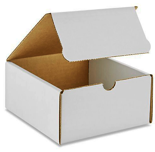 4x4x3 White Die Cut Mailer Boxes