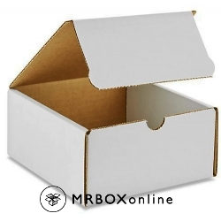7x4x4 White Die Cut Mailer Boxes