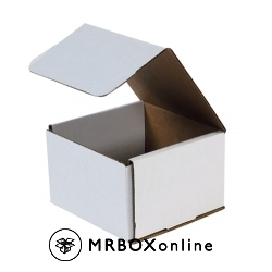 6x6x4 White Die Cut Mailer Boxes