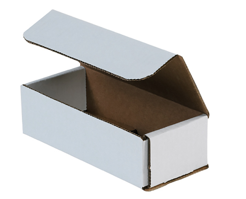 12x5x5 White Die Cut Mailer Boxes