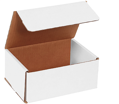 7x7x4 White Die Cut Mailer Boxes