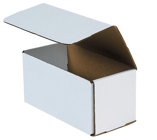 8x4x4 White Die Cut Mailer Boxes