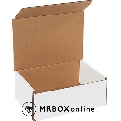 8x6x3 White Die Cut Mailer Boxes