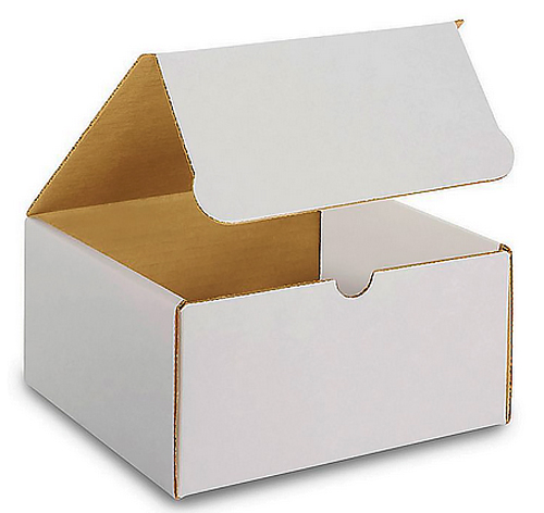 8x8x5 White Die Cut Mailer Boxes