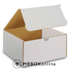 8x8x4 White Die Cut Mailer Boxes