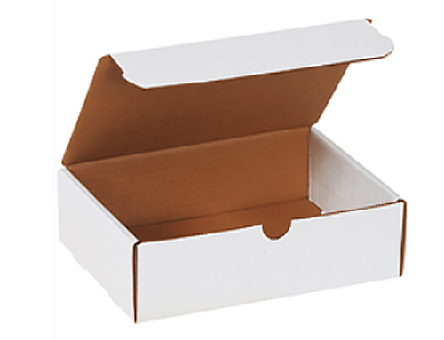 9x6-1/2x2-3/4 White Die Cut Literature Mailer Boxes
