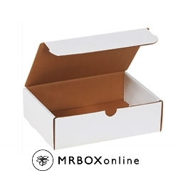 9x7.5x3 White Die Cut Literature Mailer Boxes