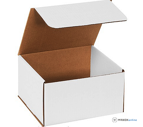 5x5x2 White Die Cut Mailer Boxes