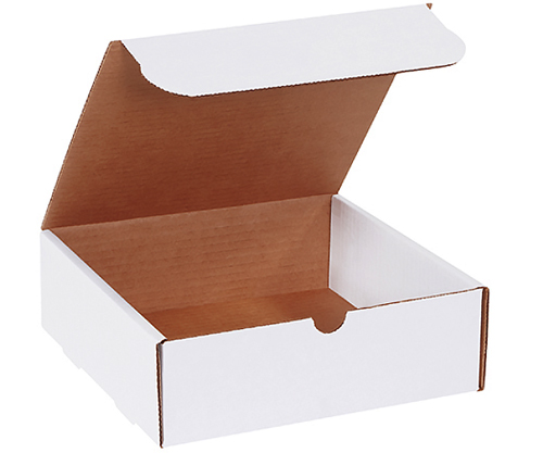 9x6.5x1.75 White Die Cut Literature Mailer Boxes