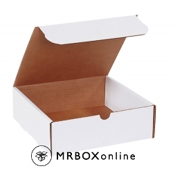 9x9x3 White Die Cut Literature Mailer Boxes