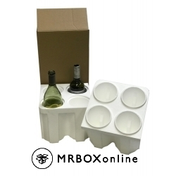 4 Bottle Foam Wine Shippers