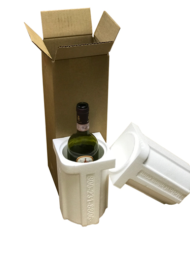 1 Bottle Foam Wine Shipper