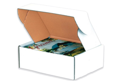 12x10x4 Deluxe White Die Cut Mailers