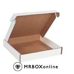 12x12x2 Deluxe White Die Cut Mailer Box
