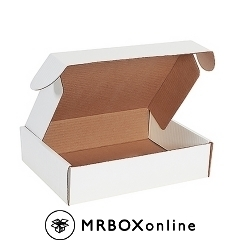12.125x9.25x3 Deluxe White Die Cut Mailer Boxes
