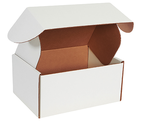 12.125x9.25x6 Deluxe White Die Cut Mailer Box