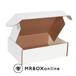 13x10x4 Deluxe White Die Cut Mailer Box
