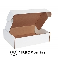 15.125x11.125x4 Deluxe White Die Cut Mailer Box