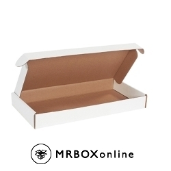 19.125x9.125x2.1875 Deluxe White Die Cut Mailer Box