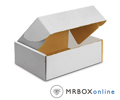 8x8x2.75 Deluxe White Die Cut Mailer Box