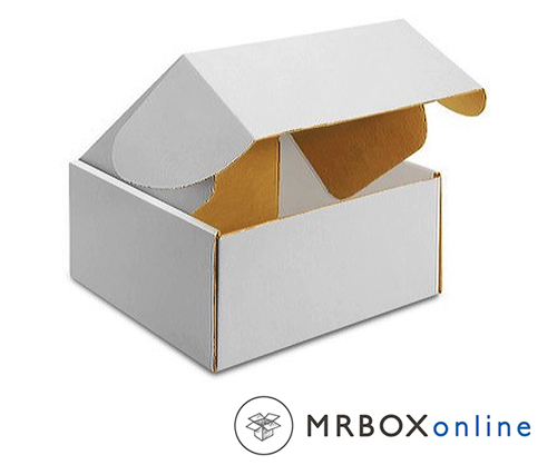 14x14x2 Deluxe White Die Cut Mailer Box