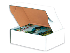 10x10x2 Deluxe White Die Cut Mailer Box