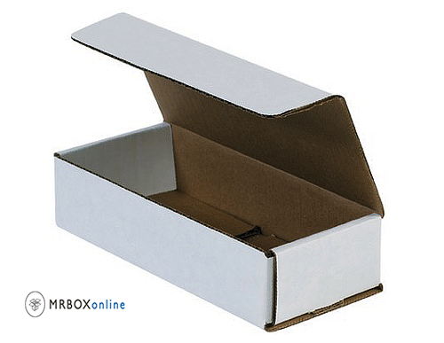 7.5x3.5x3.25 White Die Cut Mailer Boxes