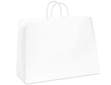 Miss Tote White Shopping Bag