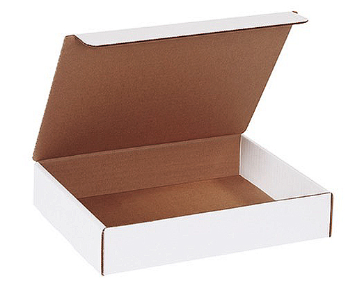 11.125x8.75x2.3125 White Die Cut Literature Mailer Boxes