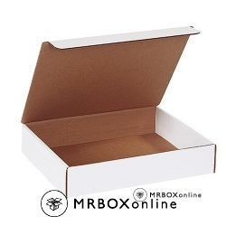 11.5x11.5x3.75 White Die Cut Literature Mailer Boxes