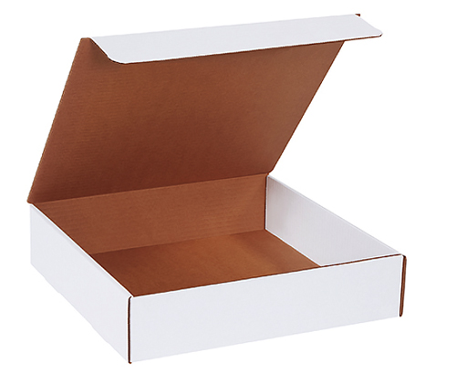 13x13x3 White Die Cut Literature Mailer Boxes