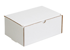 7x2x2 White Die Cut Mailer Boxes