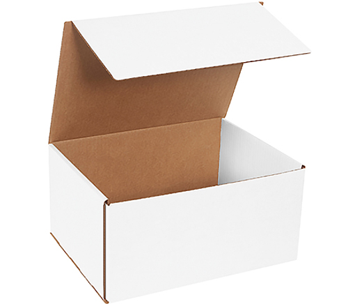 12x9x6 White Die Cut Mailer Box