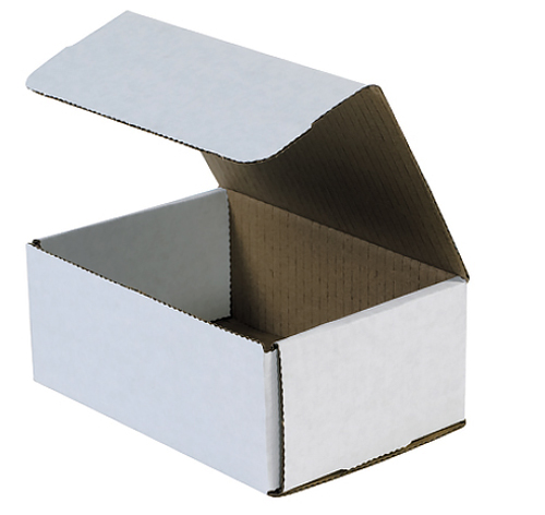 7.125x5x3 White Die Cut Mailer Boxes