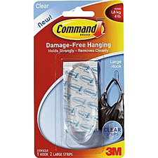 3M Command Clear Large Hook