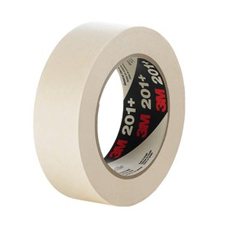 3M 201+ 1x60yds Masking Tape Single rolls