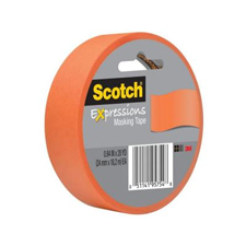 3M Scotch 1x20yds Tangerine Masking Tape