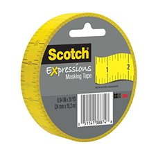 Scotch Expressions Ruler Masking Tape