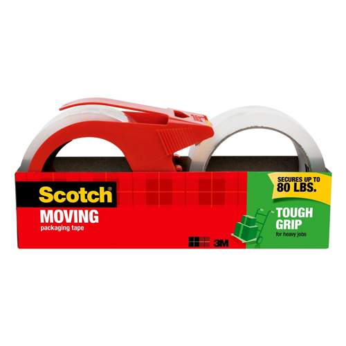 3M Scotch Tough Grip Moving Tape with Dispenser 2 rolls