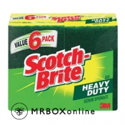 3M Scotch-Brite Heavy Duty Sponge 6 pack