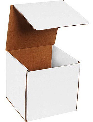 8x8x8 White Die Cut Mailer Boxes