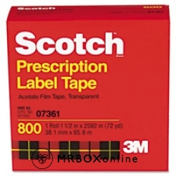 3M Scotch Prescription Label Tape 1.75x72yds
